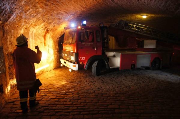 Feuerwehrübung auf Burg Hohenzollern